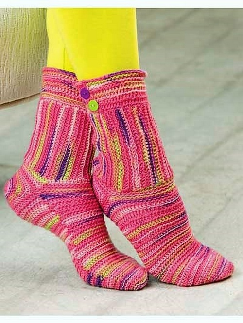 Easy to Make Crochet Sock Patterns