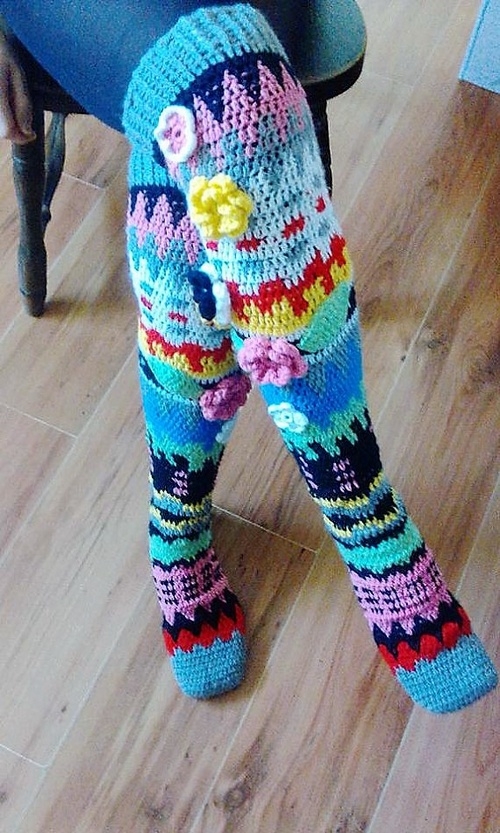 Knee socks crochet PDF pattern