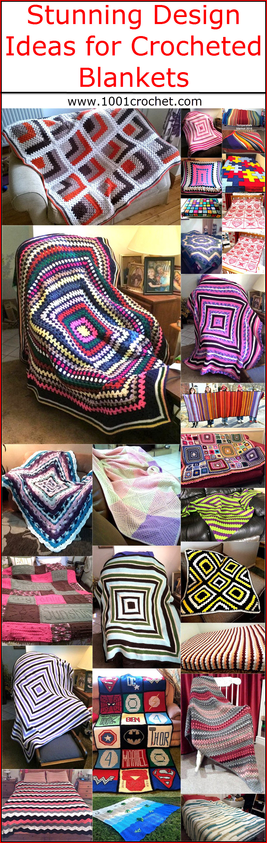 Stunning Design Ideas for Crocheted Blankets