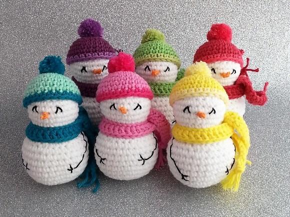 Vols fer un ninot de neu de ganxet