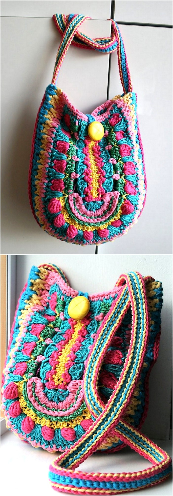 Awesome Handmade Crocheted Bag Patterns | 1001 Crochet