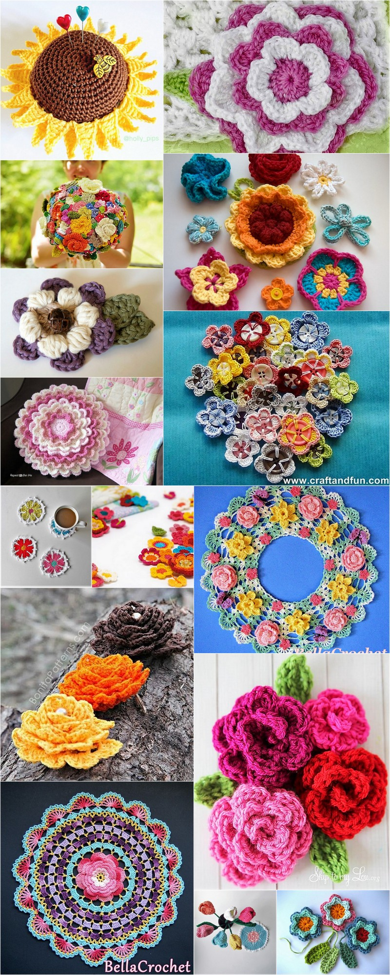 Simply Easy & Free Crochet Flower Patterns | 1001 Crochet