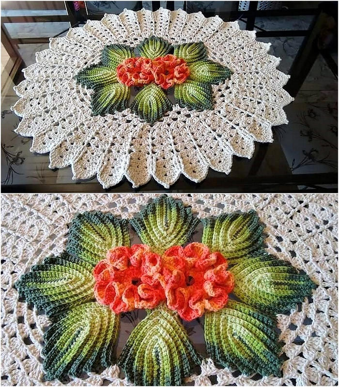 crochet table runner 1