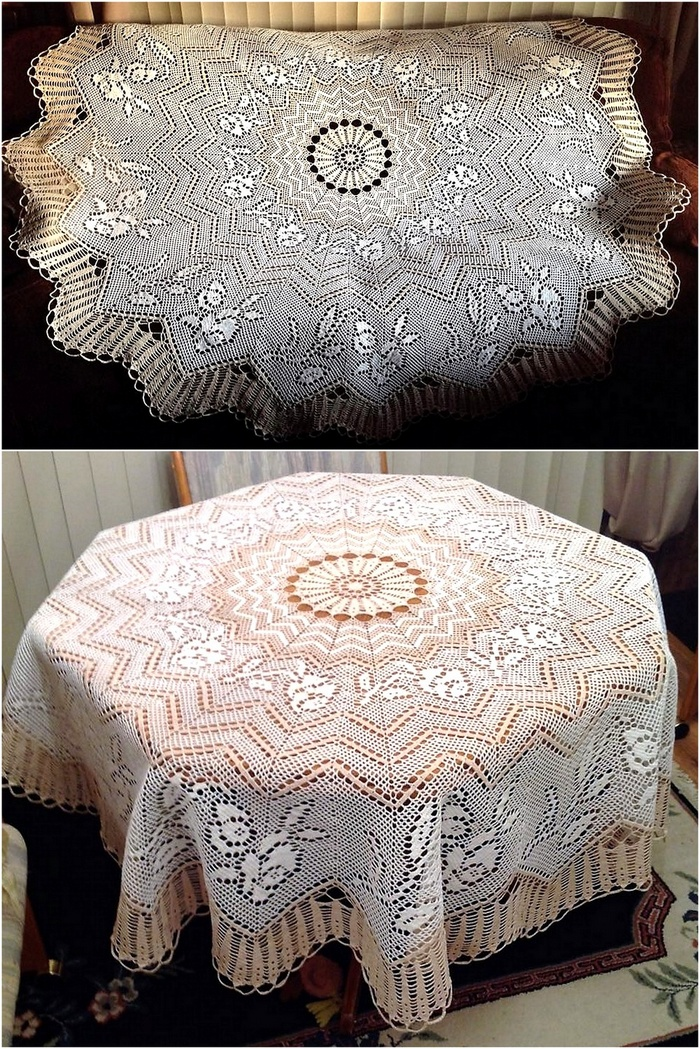 crochet table runner 11