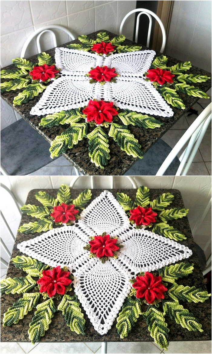 crochet table runner 3
