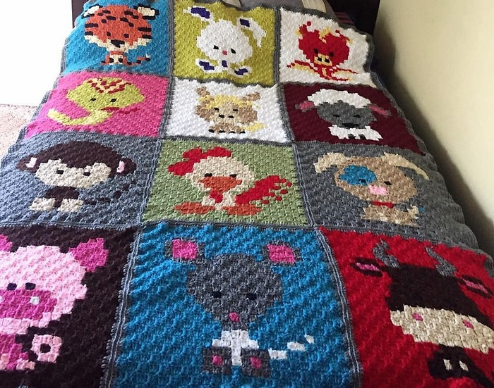 crocheted baby blanket 10