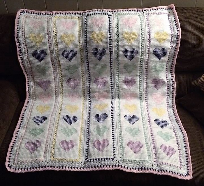 crocheted baby blanket 11