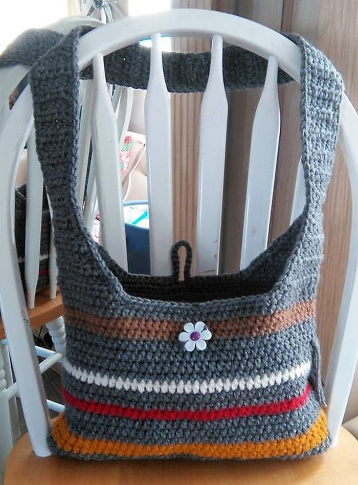 crocheted bag 12