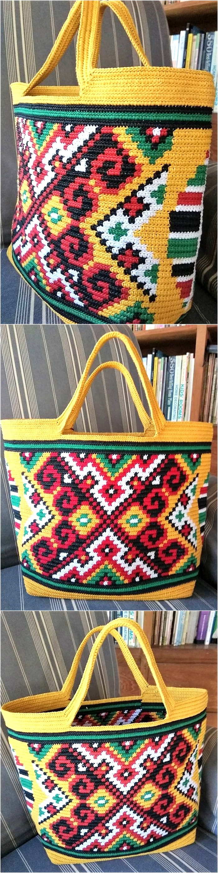 crocheted bag 14