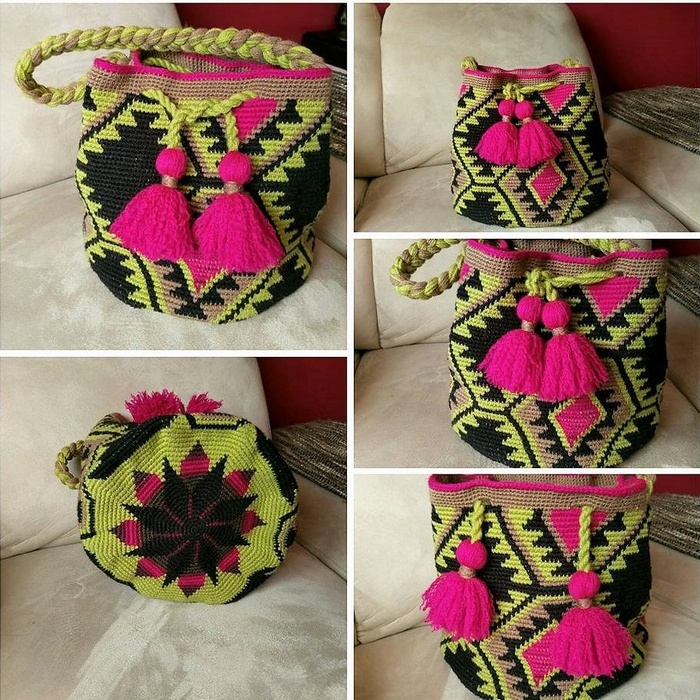 crocheted bag 9