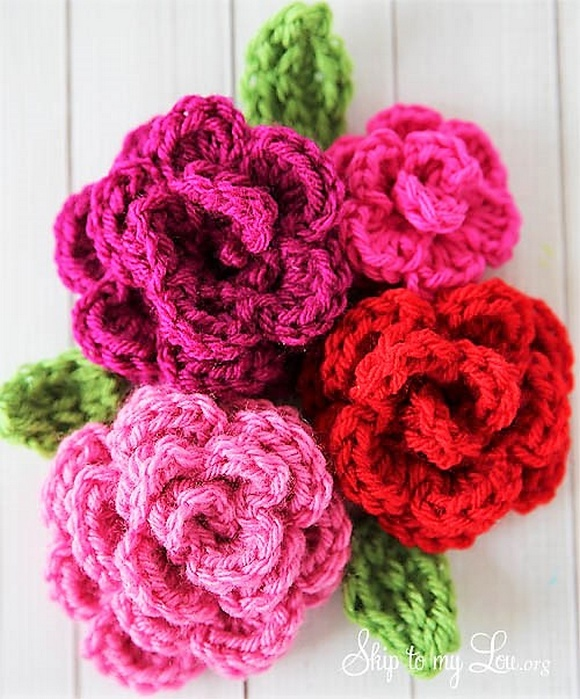 Simply Easy & Free Crochet Flower Patterns 1001 Crochet
