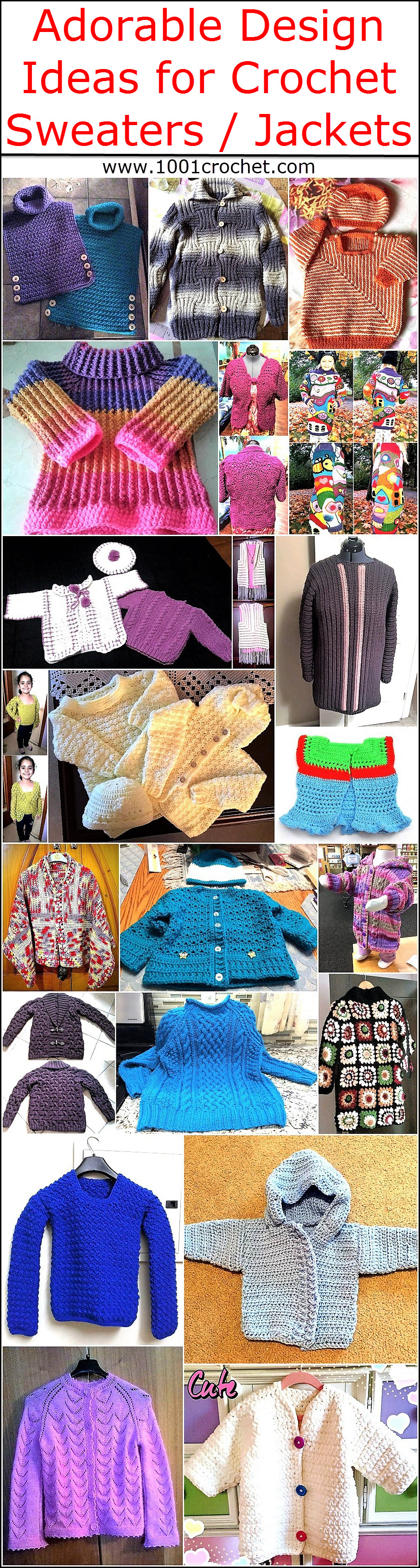 Adorable Design Ideas for Crochet Sweaters Jackets