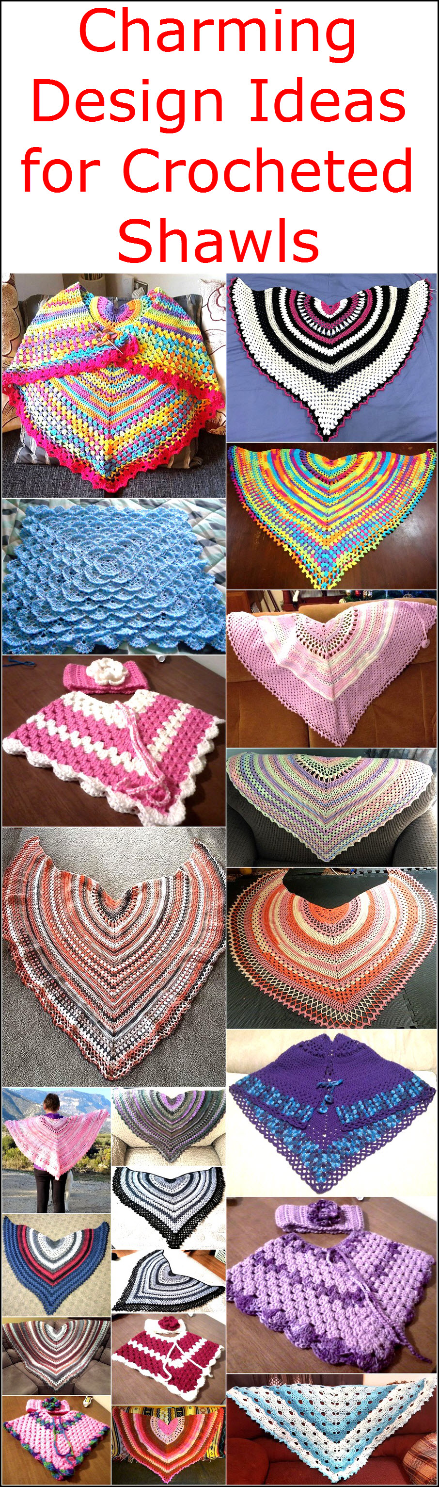 Charming Design Ideas for Crocheted Shawls