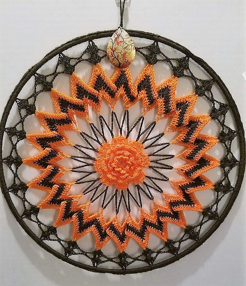 Stunning Dreamcatchers Crocheted by Brenda Donals