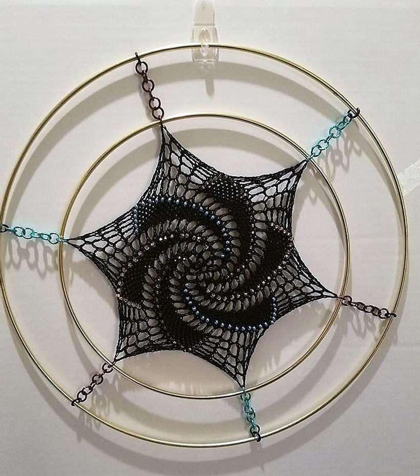 crochet dreamcatcher 6