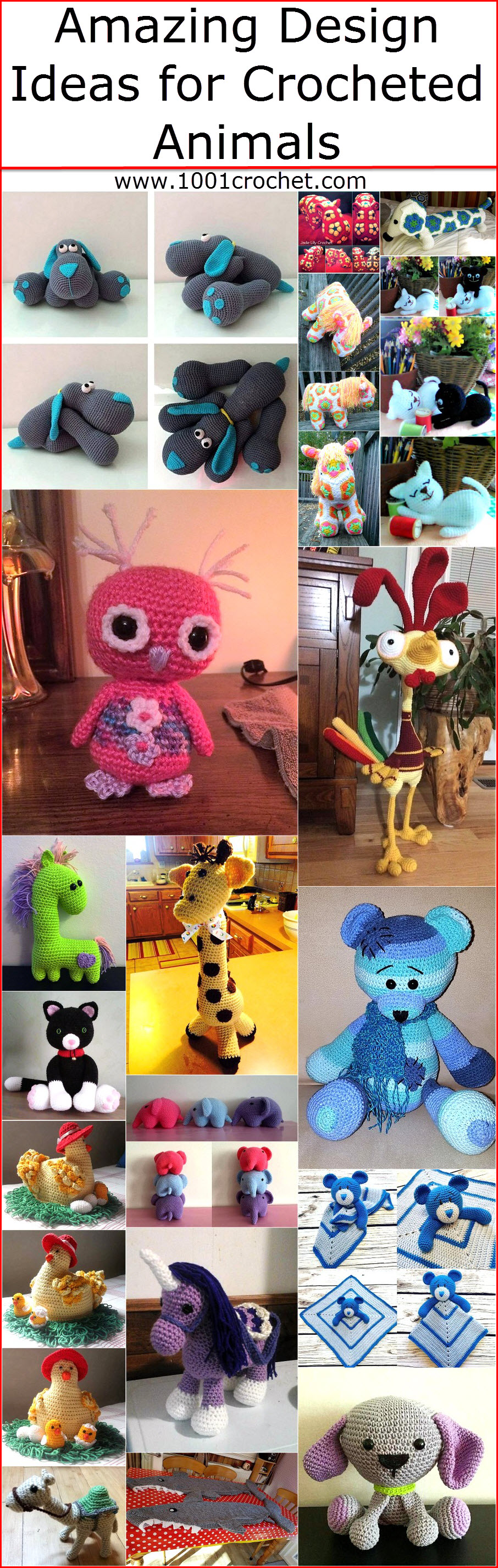 Amazing Design Ideas for Crocheted Animals