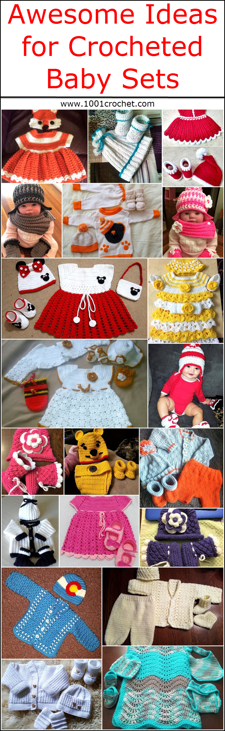 Awesome Ideas for Crocheted Baby Sets 1001 Crochet