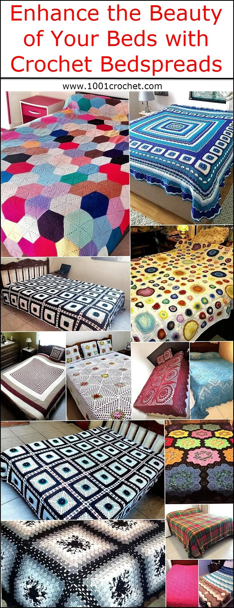 Beauty of Your Beds with Crochet Bedspreads