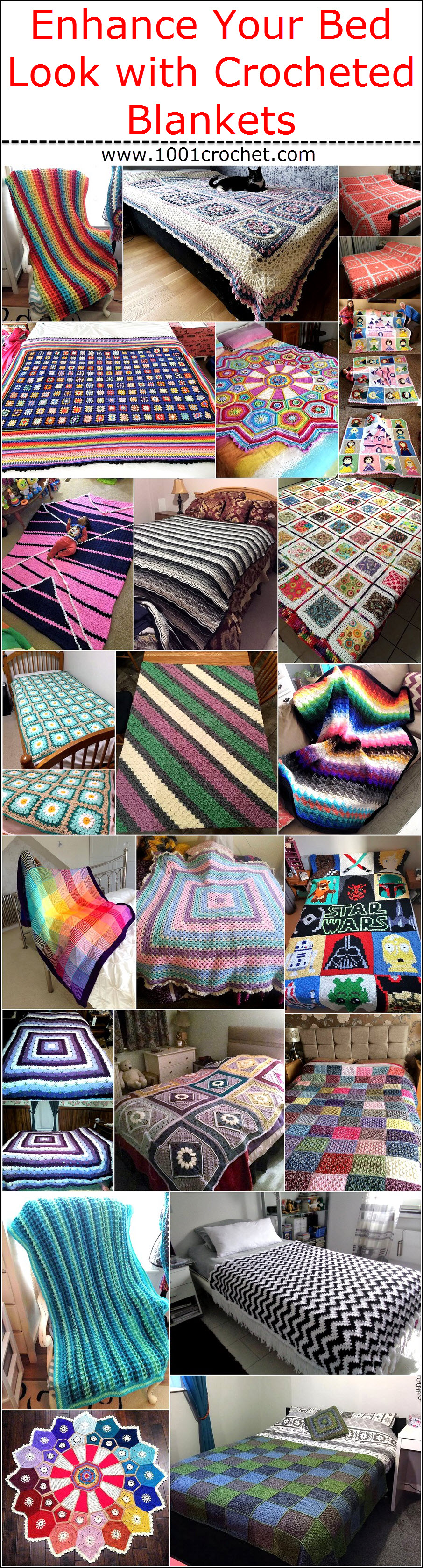 Enhance Your Bed Look with Crocheted Blankets
