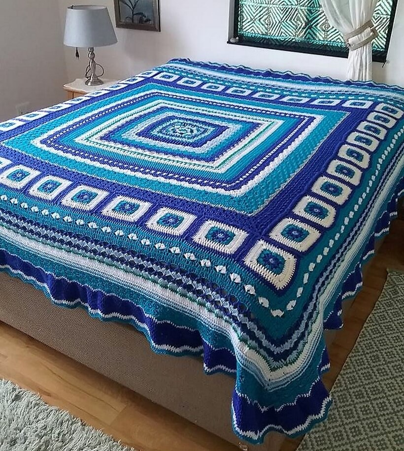 bedspread crocheting 13