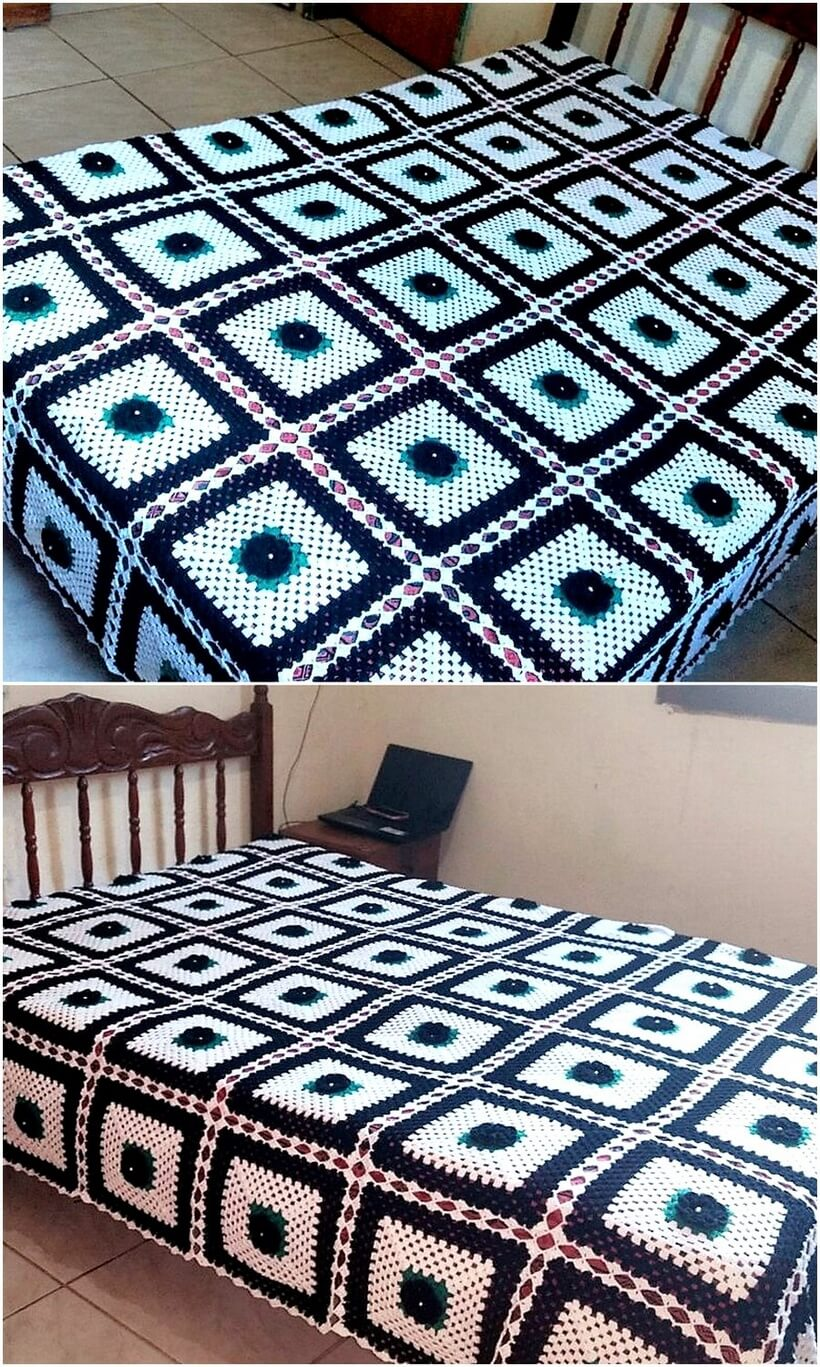 bedspread crocheting 2