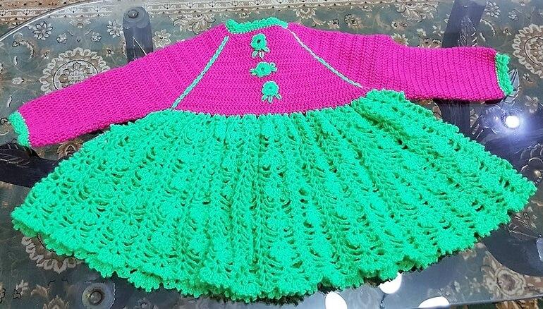 crochet baby dress 10