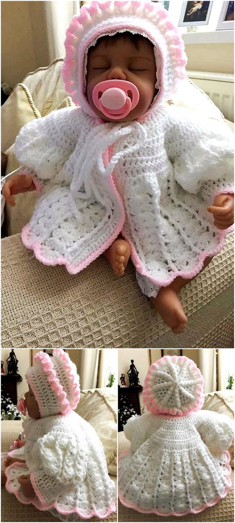 crochet baby dress 11