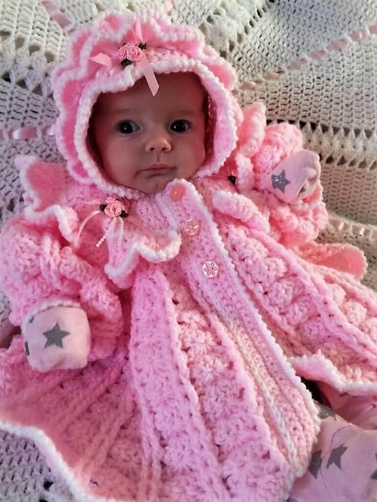 crochet baby dress 12