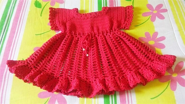 crochet baby dress 3