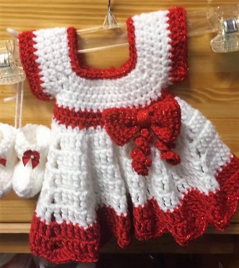 crochet baby dress 5 - 1