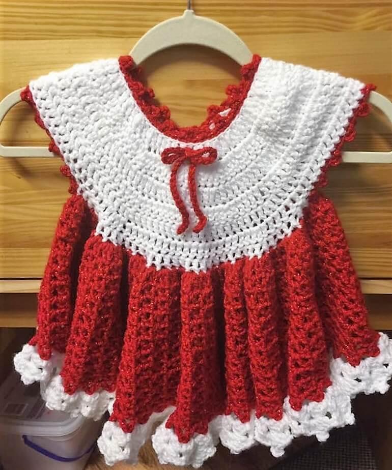 crochet baby dress 5 - 2