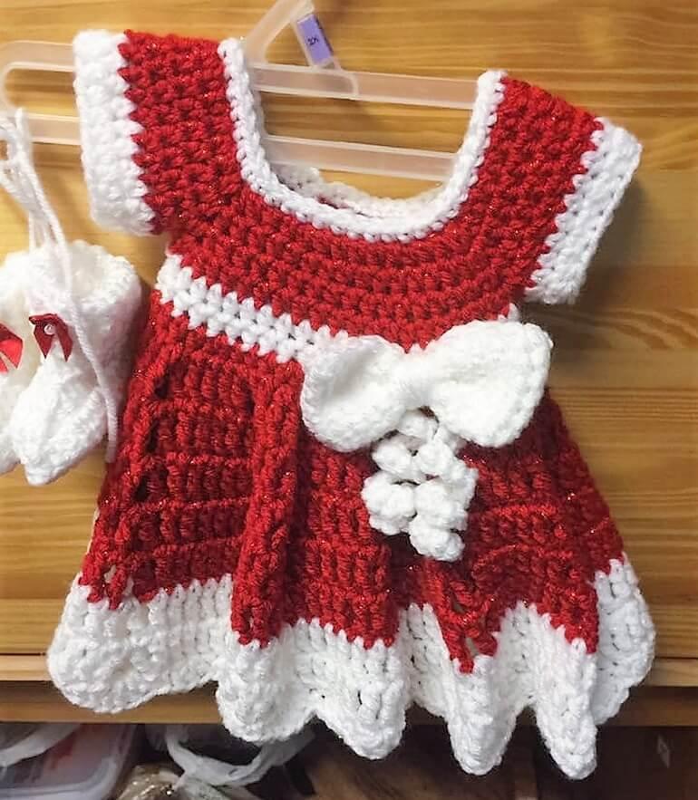 crochet baby dress 5