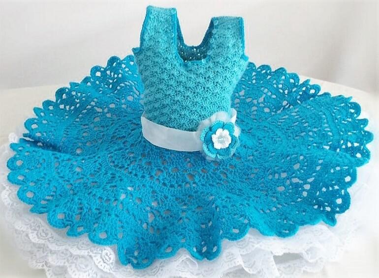 crochet baby dress 6