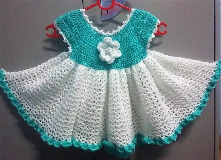 crochet baby dress 7