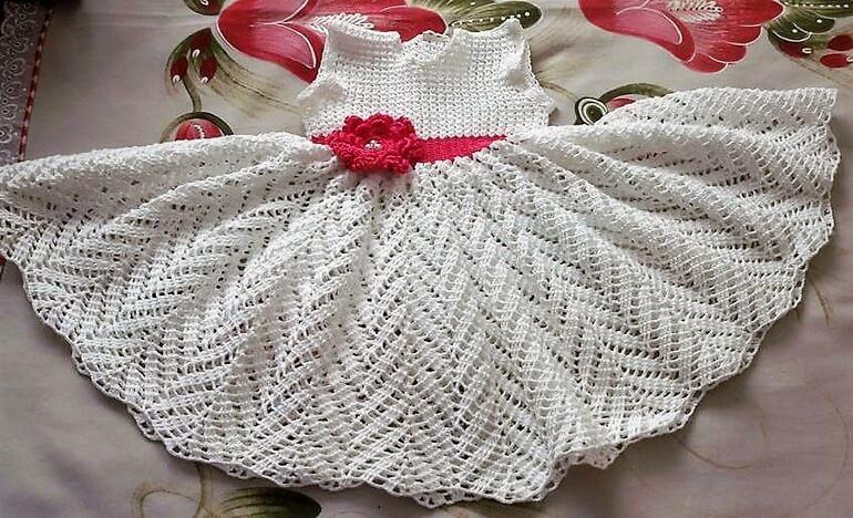 crochet baby dress 9