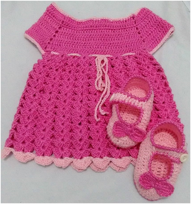 crocheted baby set 13