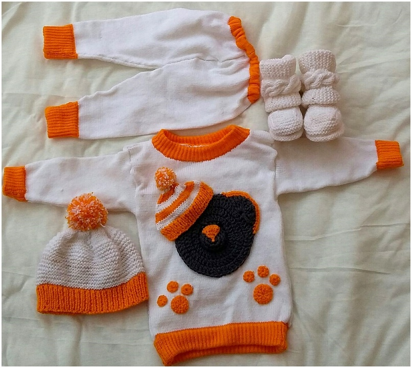 crocheted baby set 16