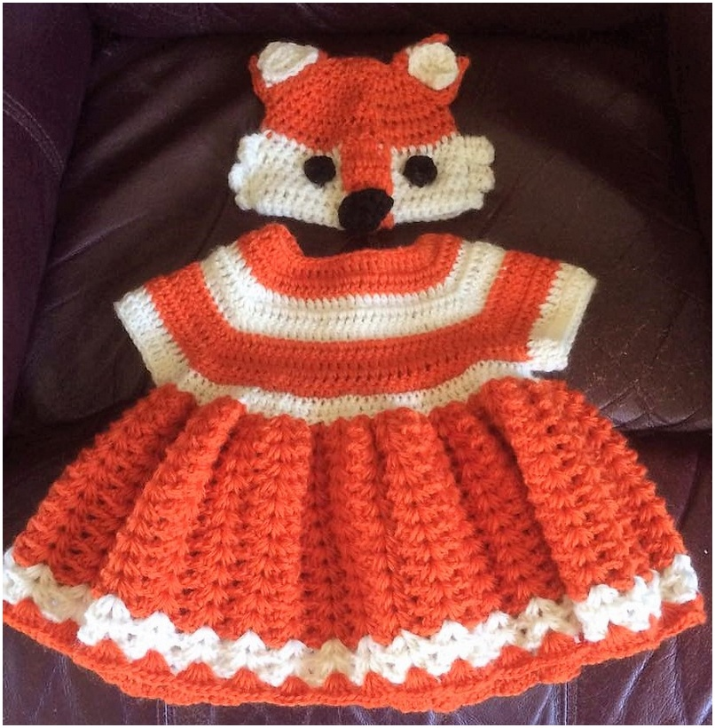 crocheted baby set 2