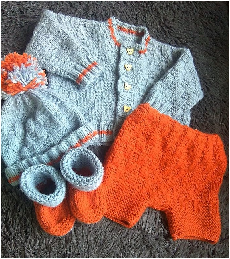 crocheted baby set 5
