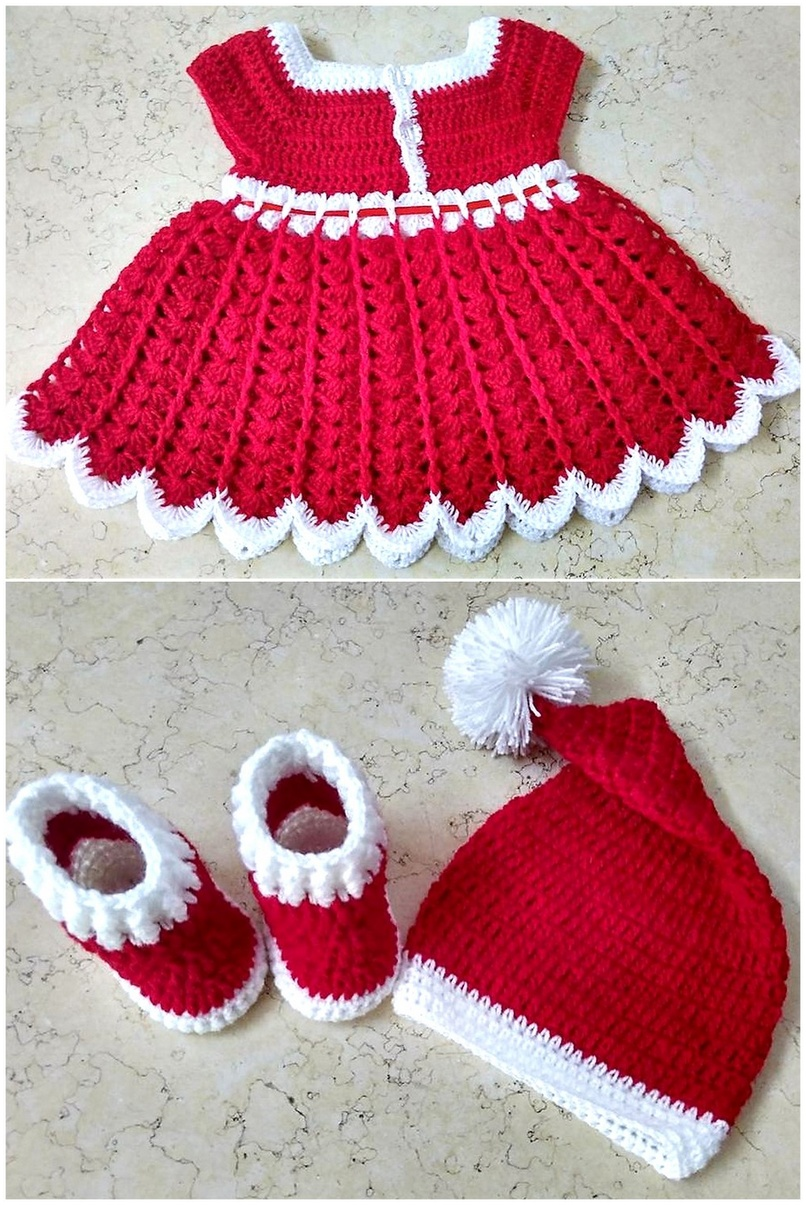 crocheted baby set 6