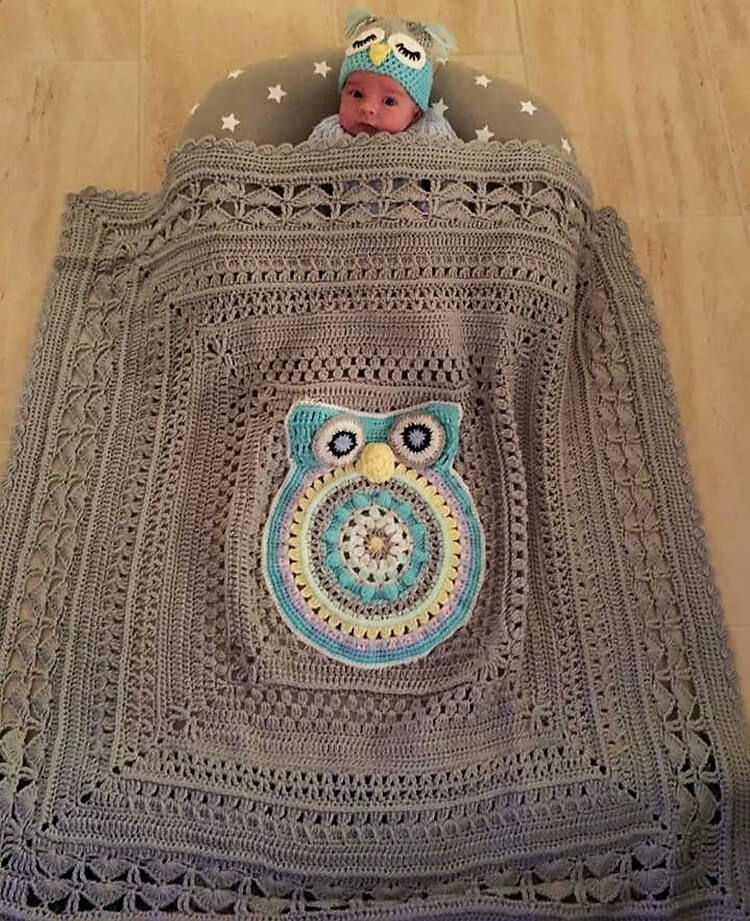 crocheted baby blankets 11
