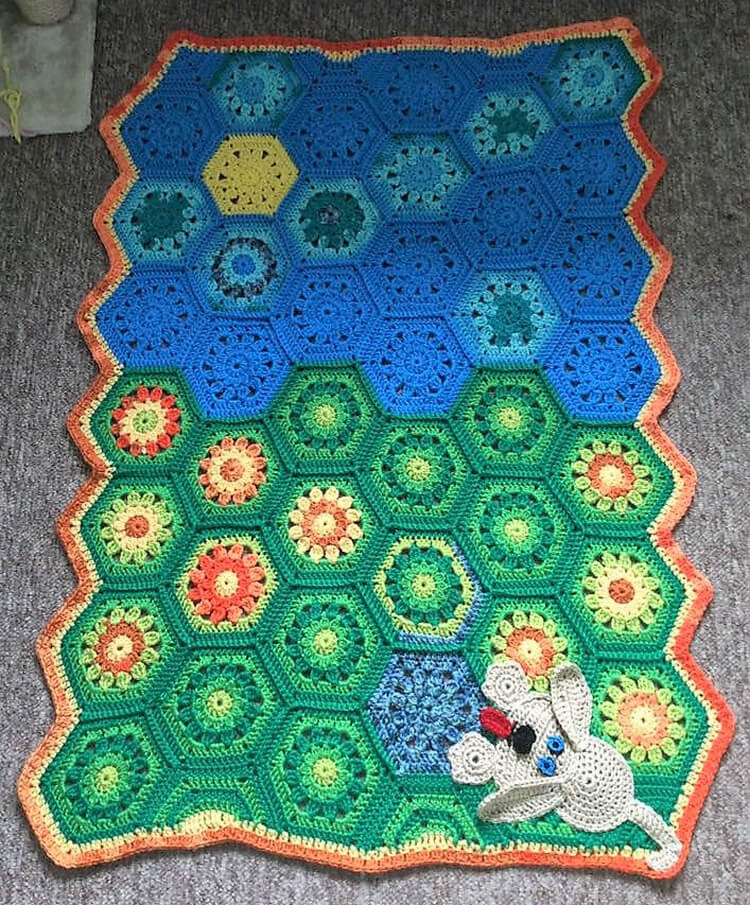 crocheted baby blankets 17