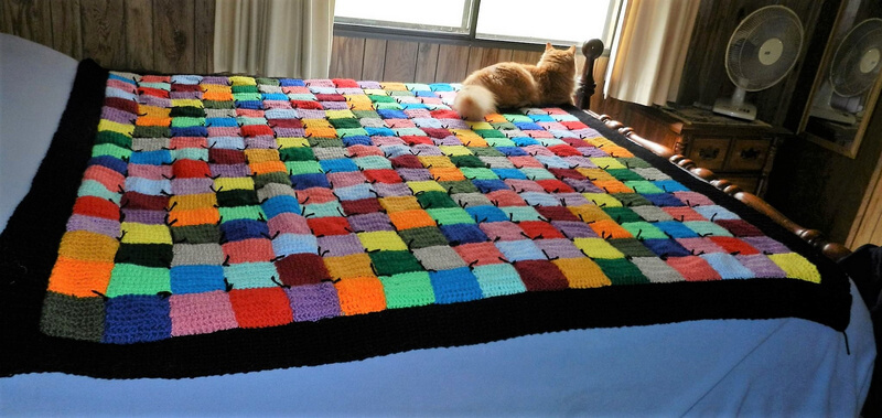 crocheted afghan idea 14