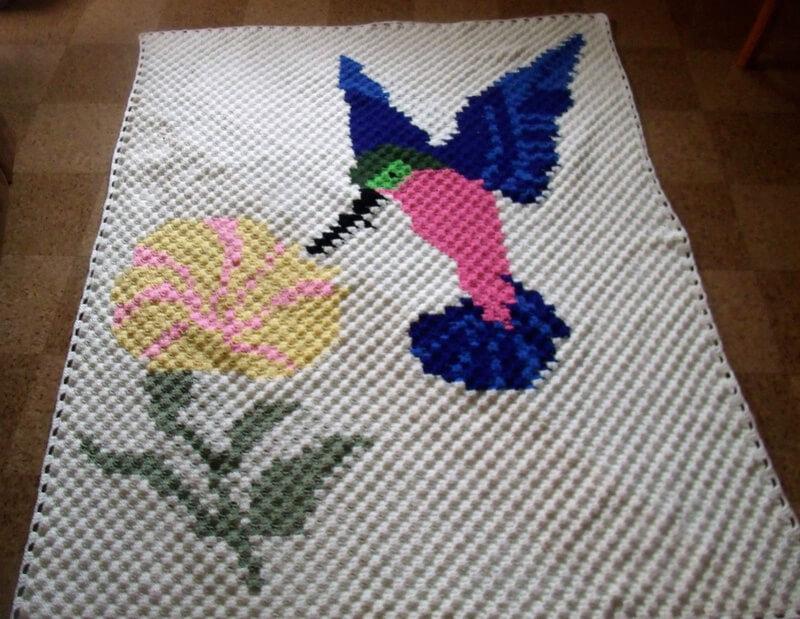 crocheted afghan idea 15