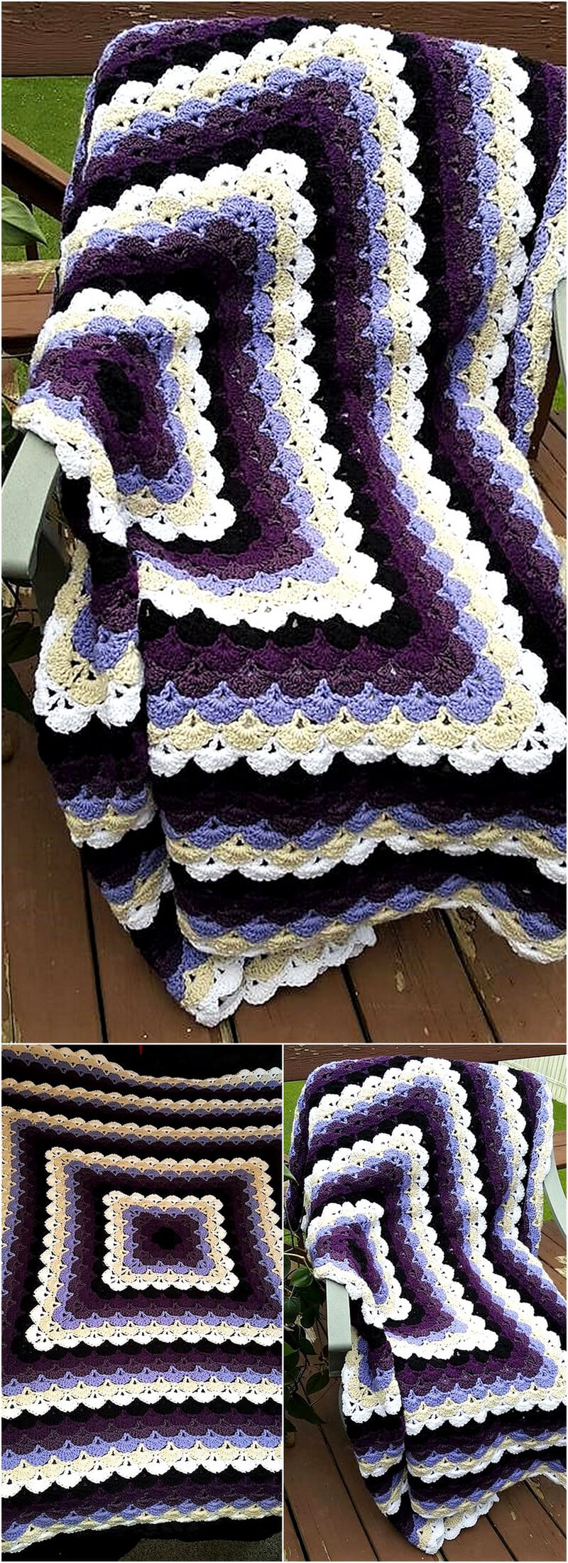 crocheted afghan idea 16