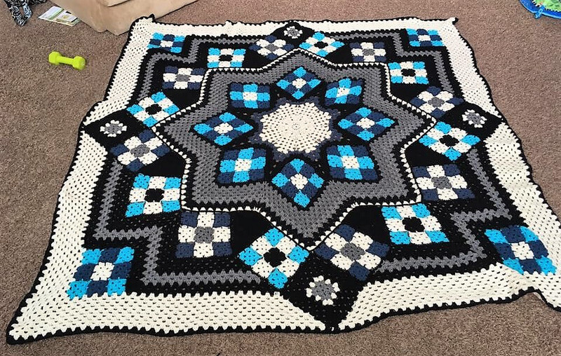 crocheted afghan idea 8