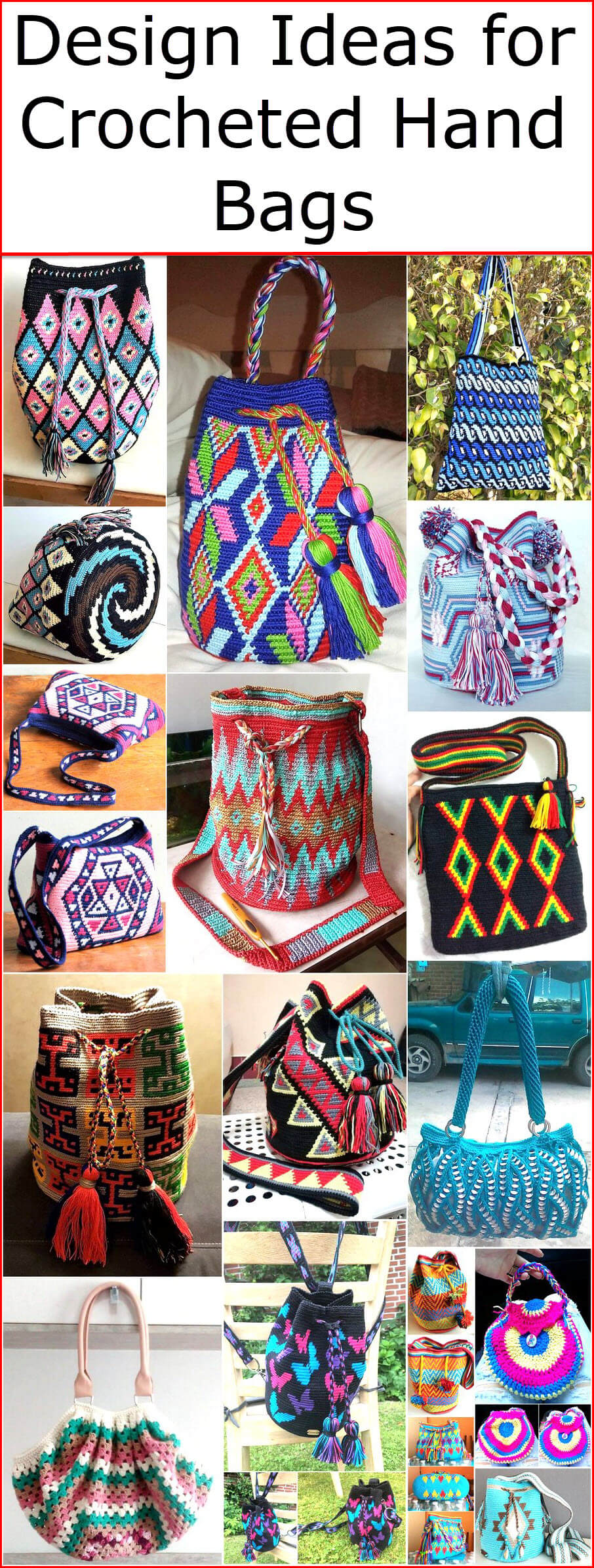 Design Ideas for Crocheted Hand Bags