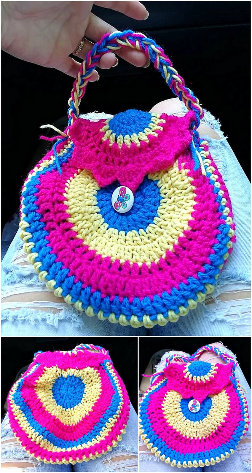 crocheted bag design ideas 14