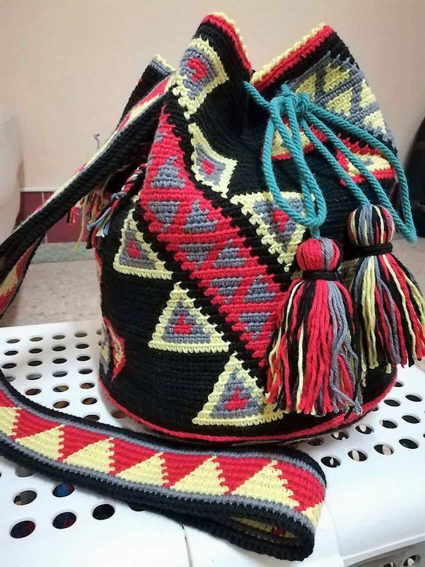 crocheted bag design ideas 8