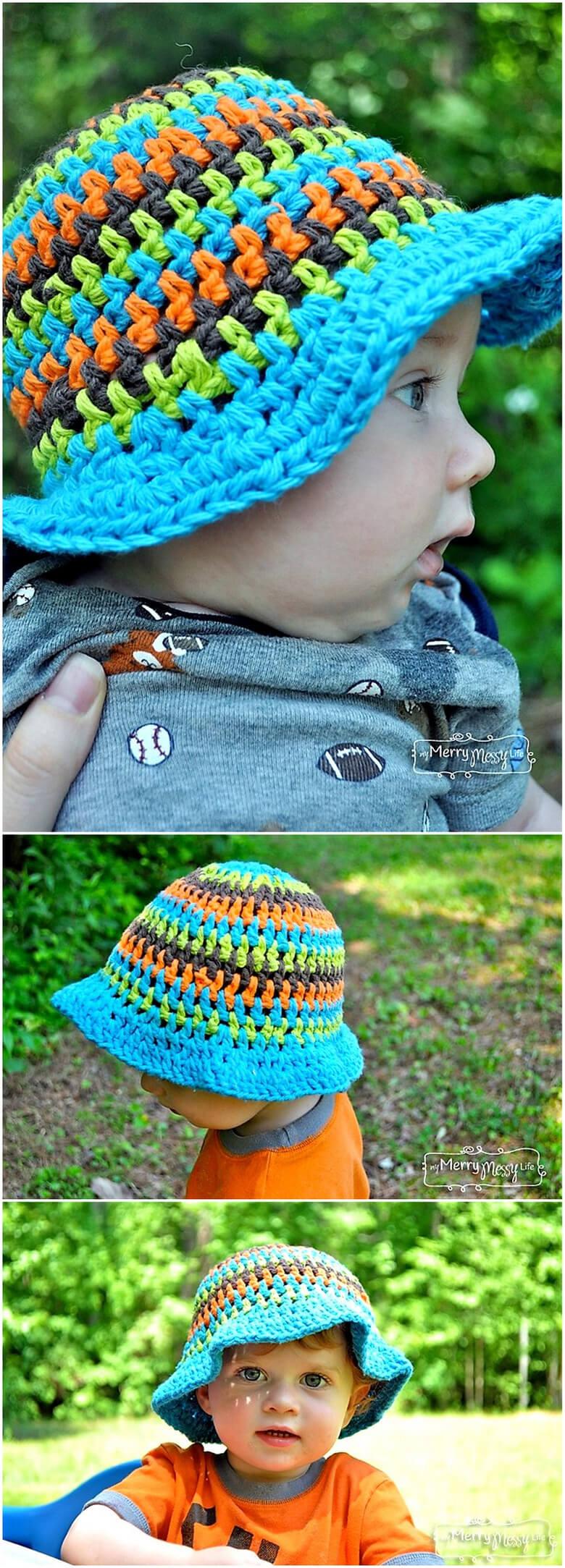 Crochet Sun Hat Free Patterns for Kids | 1001 Crochet